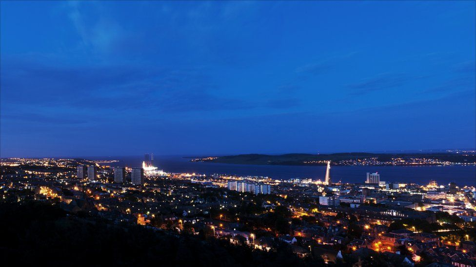 Dundee skyline taken from Law Hill