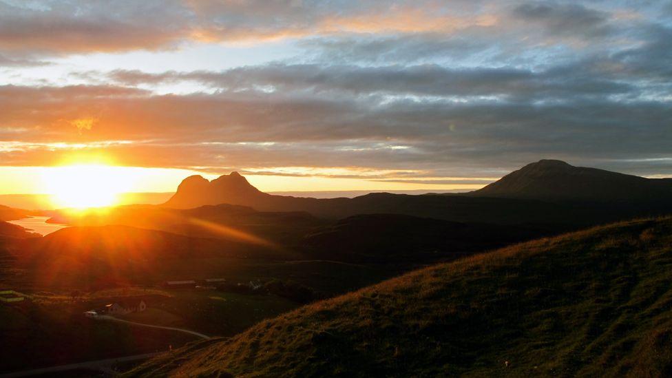 Sunset over Assynt