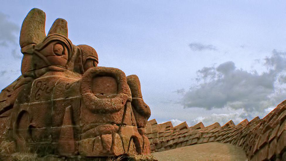 Dragon Sculpture at Irvine beach