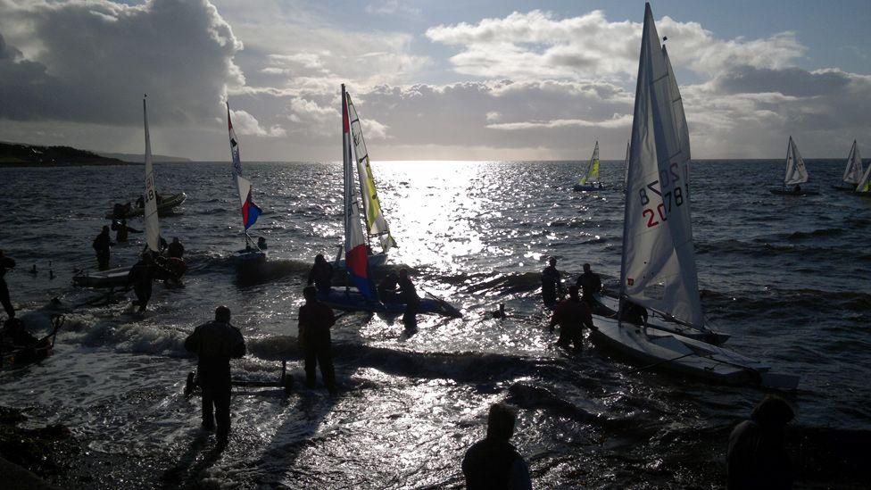 Sailing club regatta