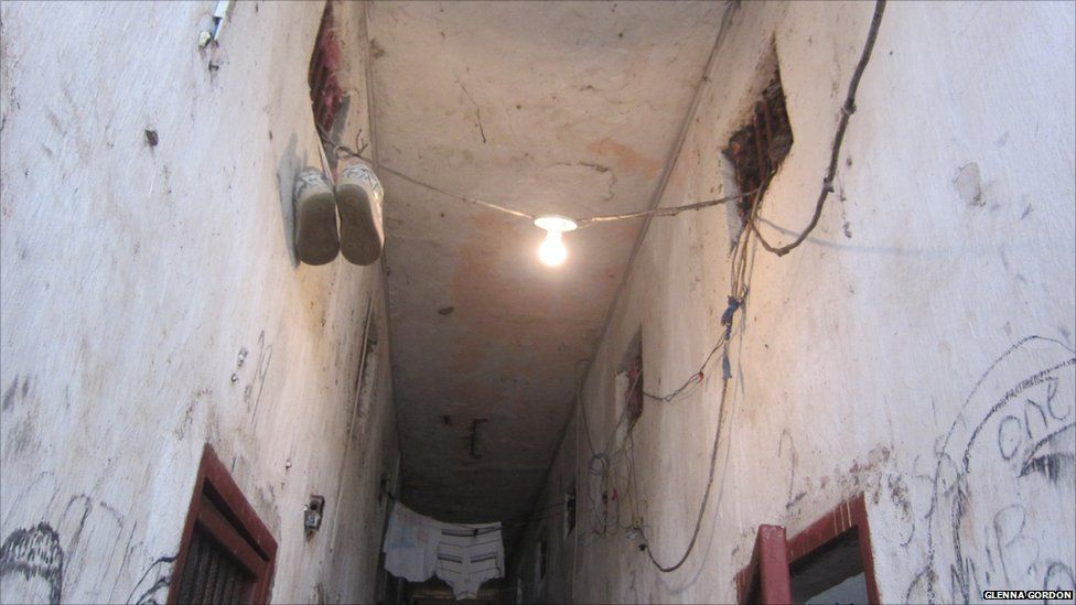 Cells in Block D in Liberia's Monrovia Central Prison, 2011