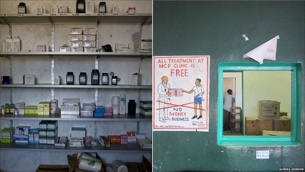 A clinic at Liberia's Monrovia Central Prison, 2011