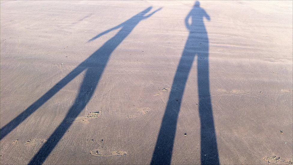 Shadows on Prestwick beach