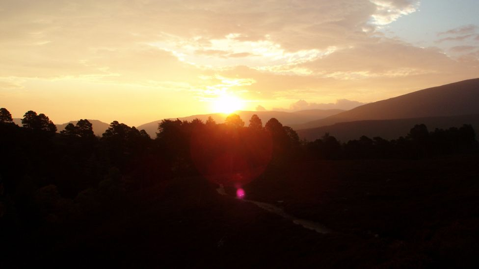 Sunrise near Linn of Quoich, west of Braemar