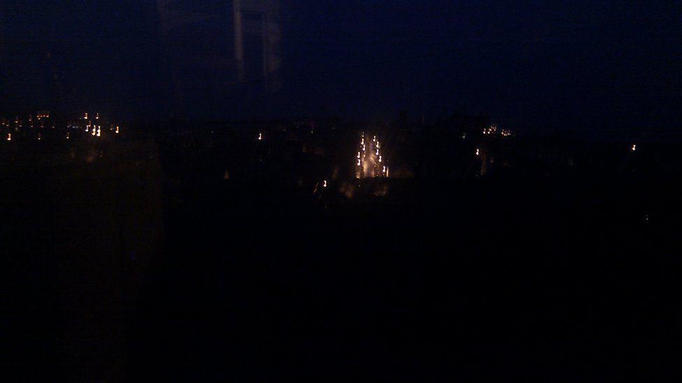 6.41am yr olygfa gan @Sigldigwt o Aberystwyth bore Llun