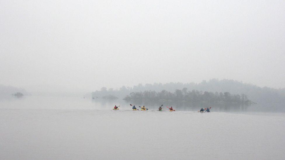 Canoeists on Loch Lomond