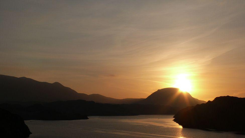 Sunrise over Arkle in Sutherland