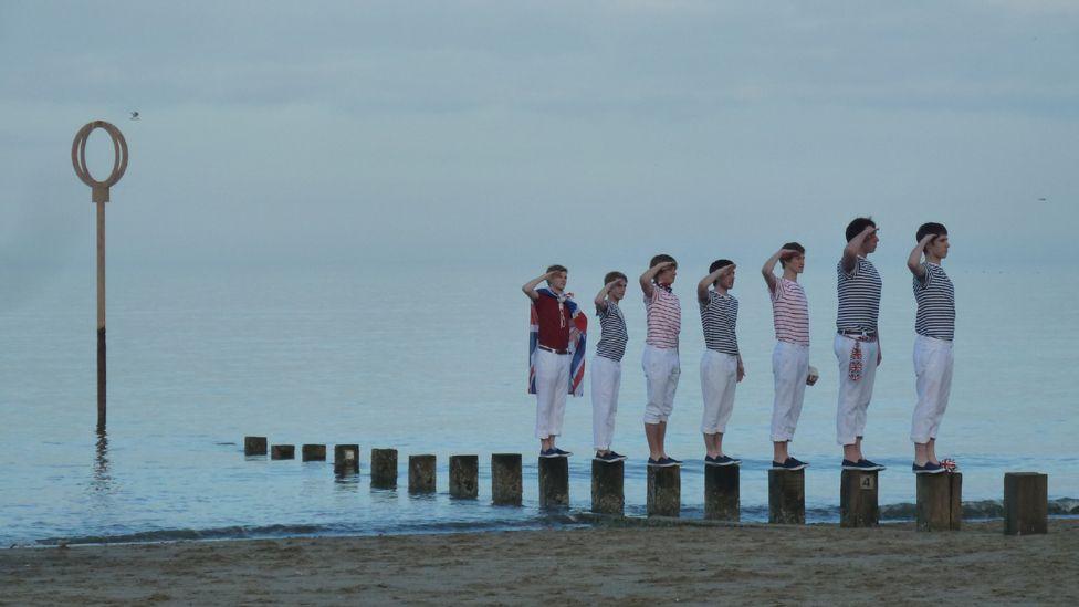 Boys on Portobello beach