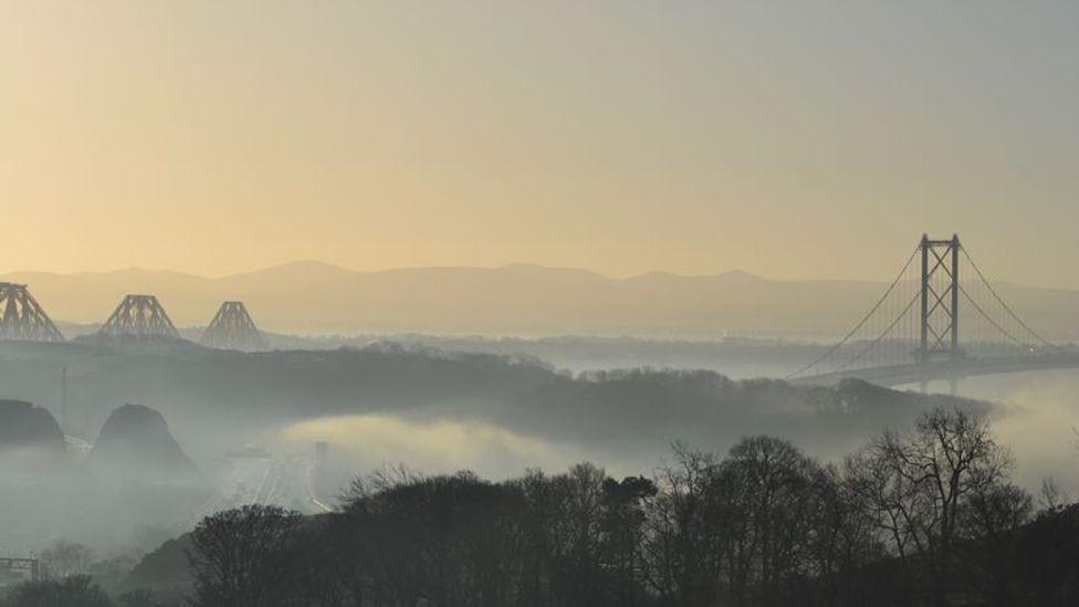 Mist over the Forth bridges