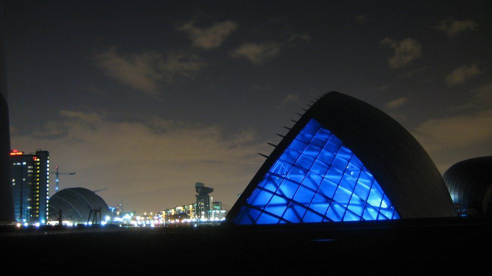 Glasgow Science Centre with the SECC in the background