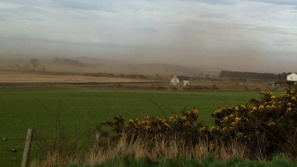 Dust storm in Moray