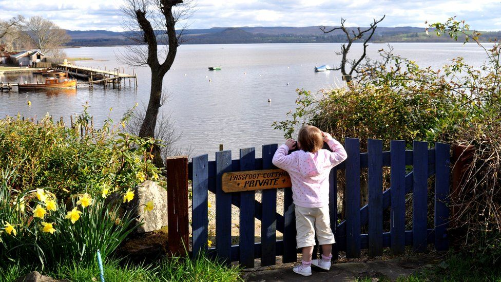 Eva enjoys the view of Loch Lomond