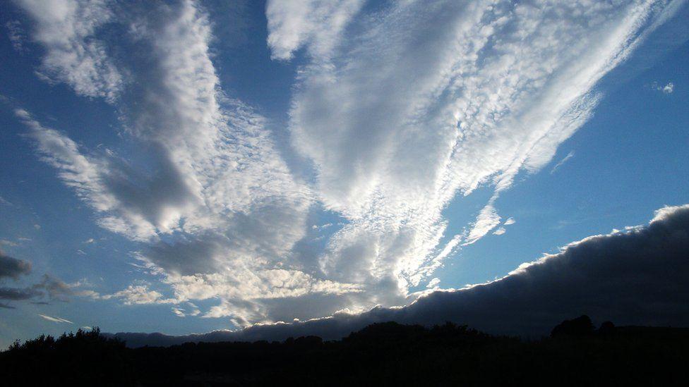 Light clouds in a blue sky