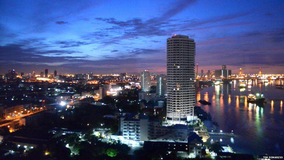 Dawn in Bangkok