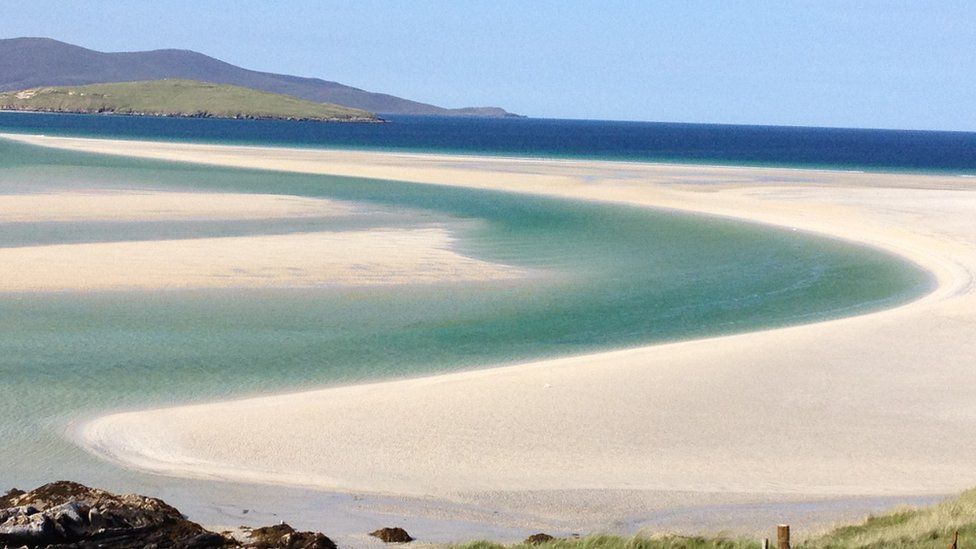 Paul King said his early morning shot was taken at Luskentyre Beach on the Isle of Harris ... or heaven, maybe.