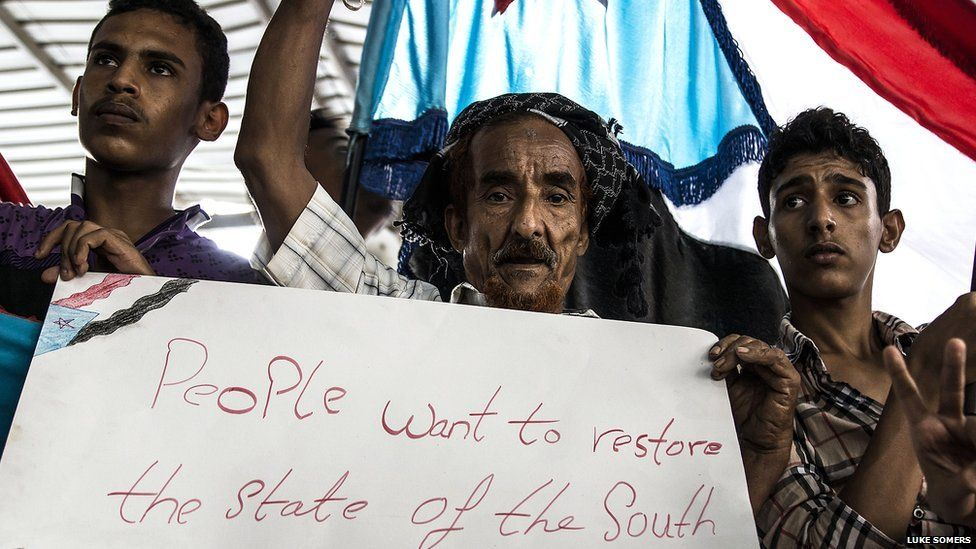 Southern Movement protesters in Yemen. Photo: Luke Somers