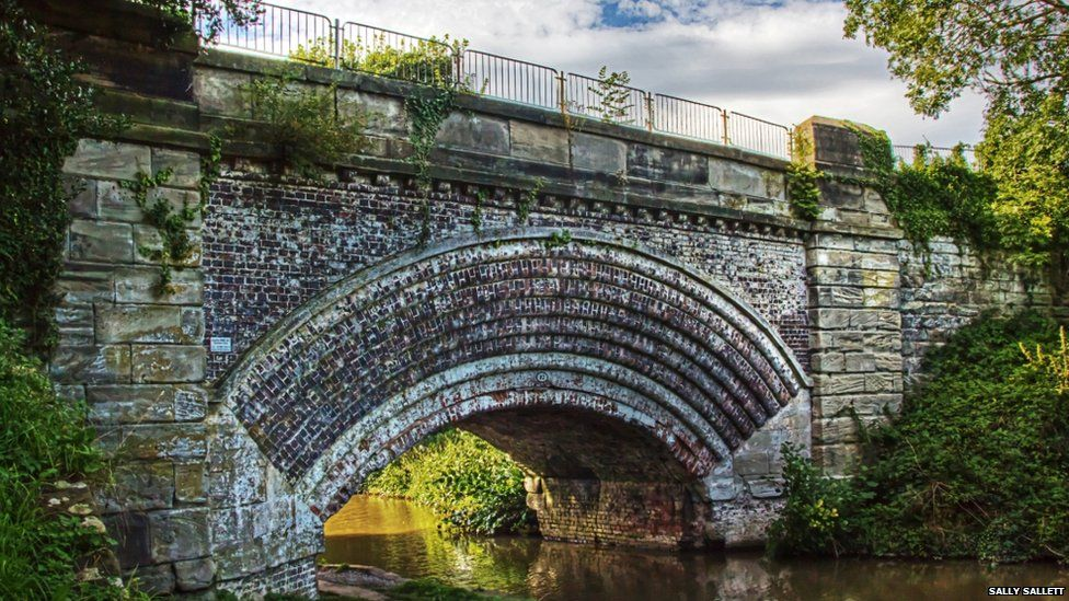 Canal bridge on the Trent and Mersey