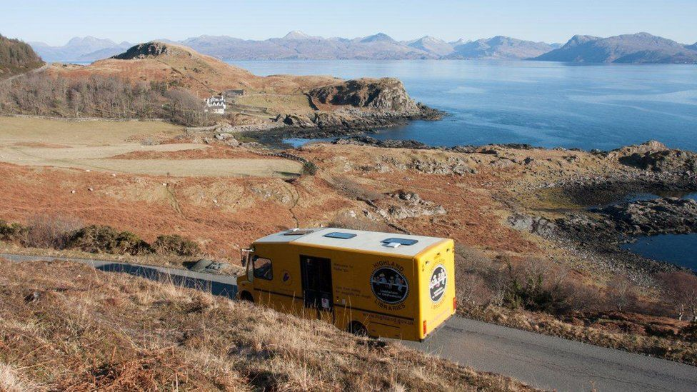 Mobile library on the Isle of Skye