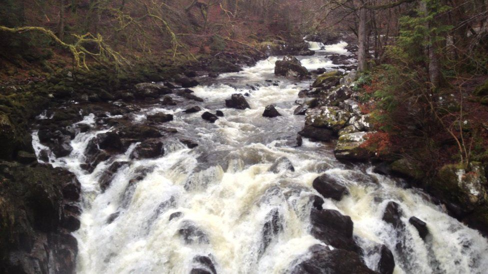 Waterfall near Dunkeld in Perthshire