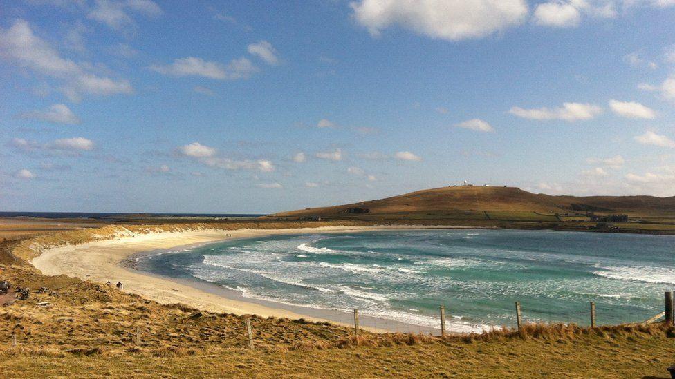 West Voe Beach in Shetland