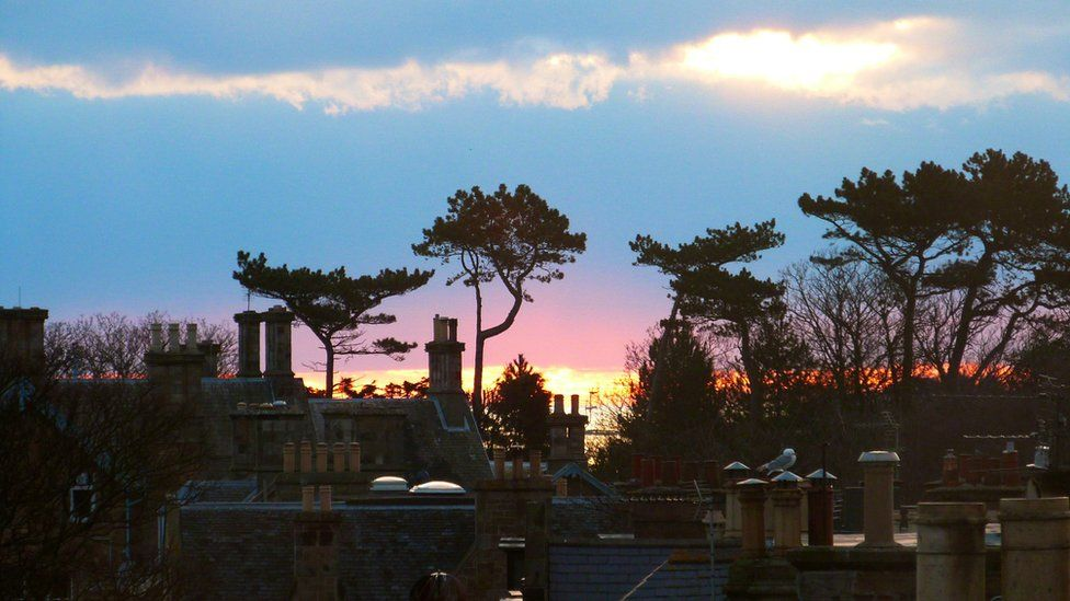 Sunrise over North Berwick