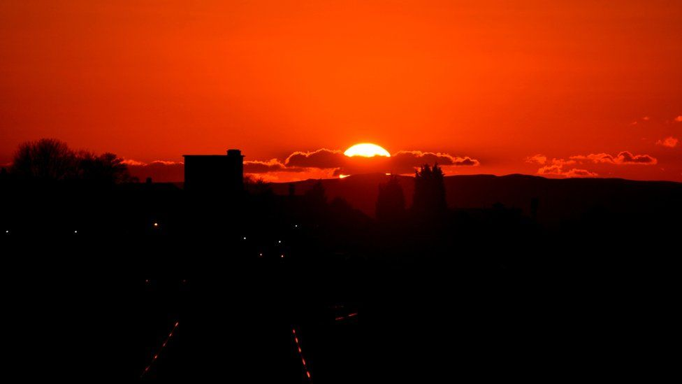 Sunset over Airdrie