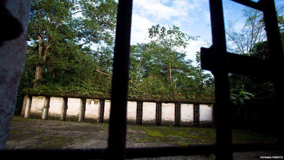 Cell block at Gorgona prison