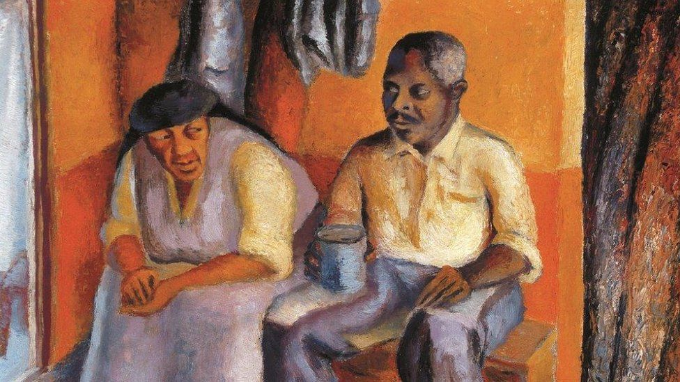 The Artist's Mother and Stepfather c, 1946-7, oil canvas, Private Collection