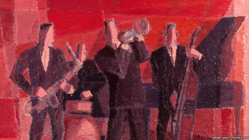 The Jazz Band 1965, oil on canvas, Private Collection