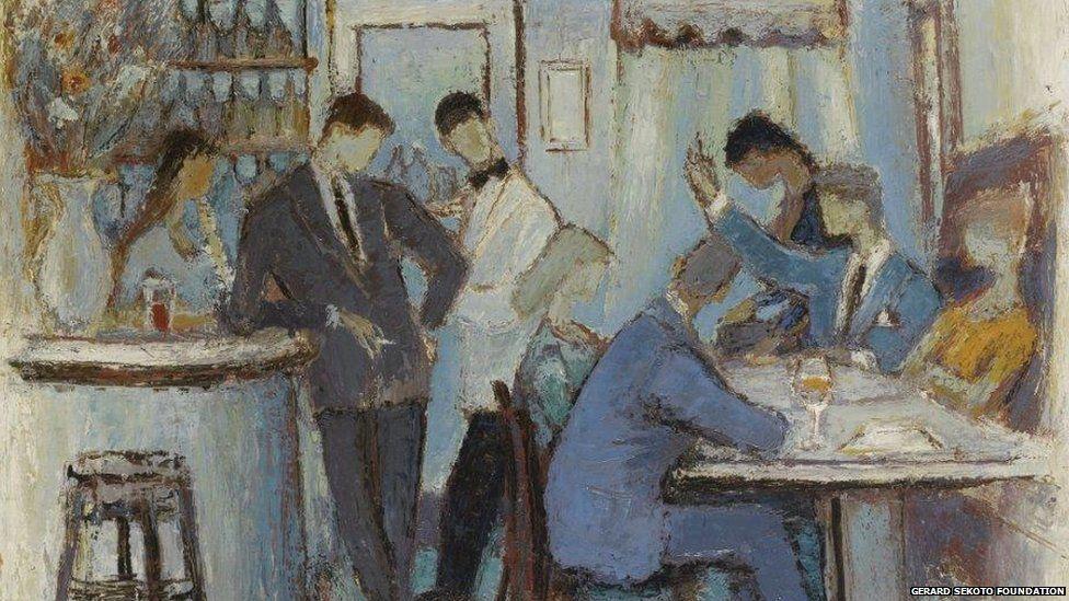 Le Cafe Parisian 1959, oil on canvas, Private Collection