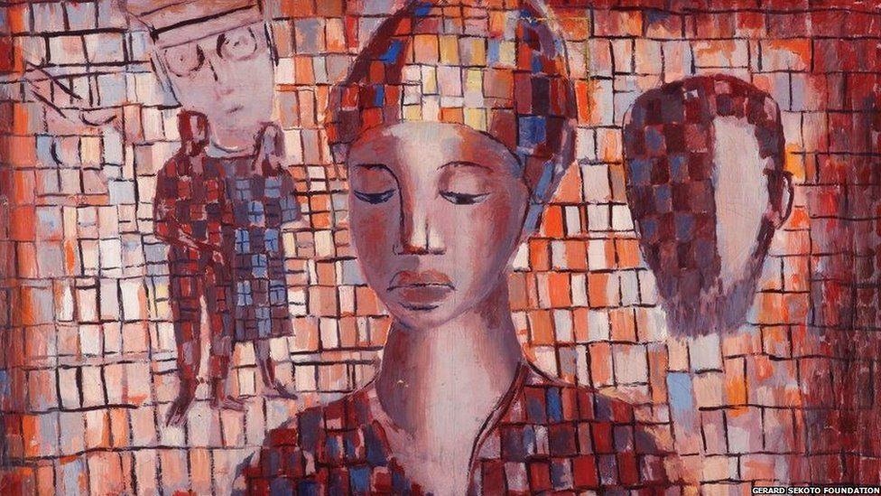 Study of Homage to Steve Biko, 1978, oil on canvas, Iziko South African National Gallery