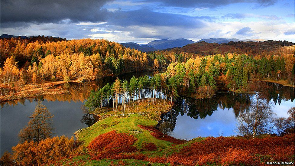 Tarns Hows in autumn, Cumbria by Malcolm Blenkey