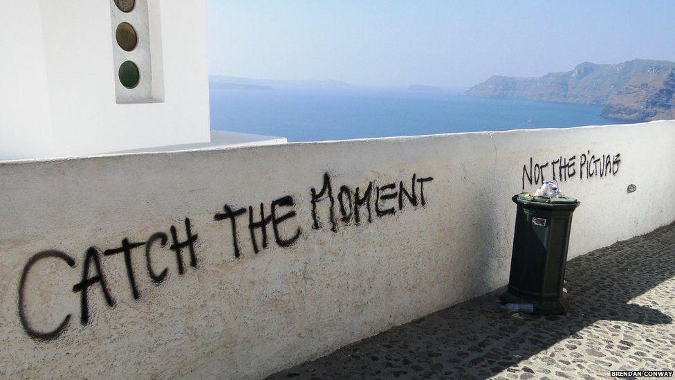 Graffiti in Santorini