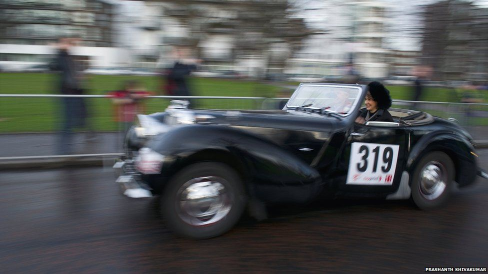 Monte Carlo Classic rally in Glasgow