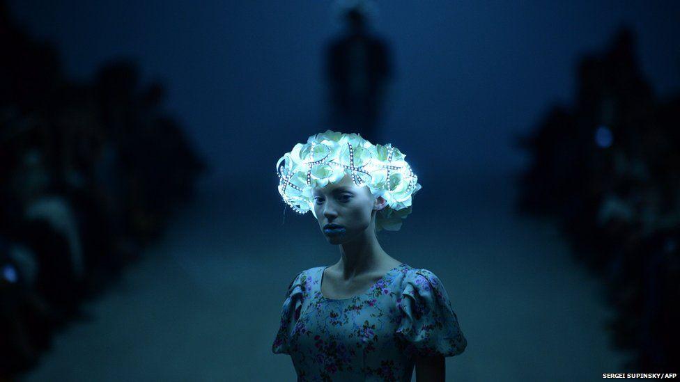 Model at Ukraine Fashion week