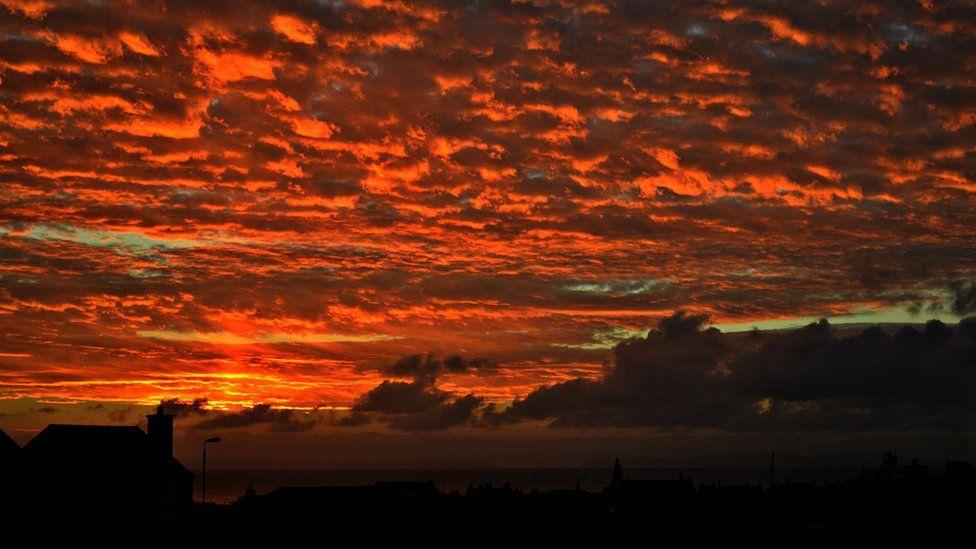 Sunset over Moray
