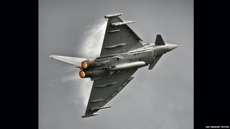 Typhoon in flight