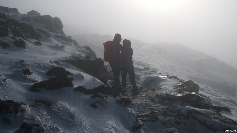 Two hikers taken on Snowdon