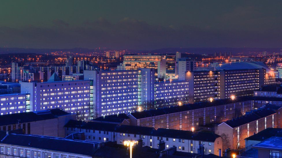 Glasgow nightscape