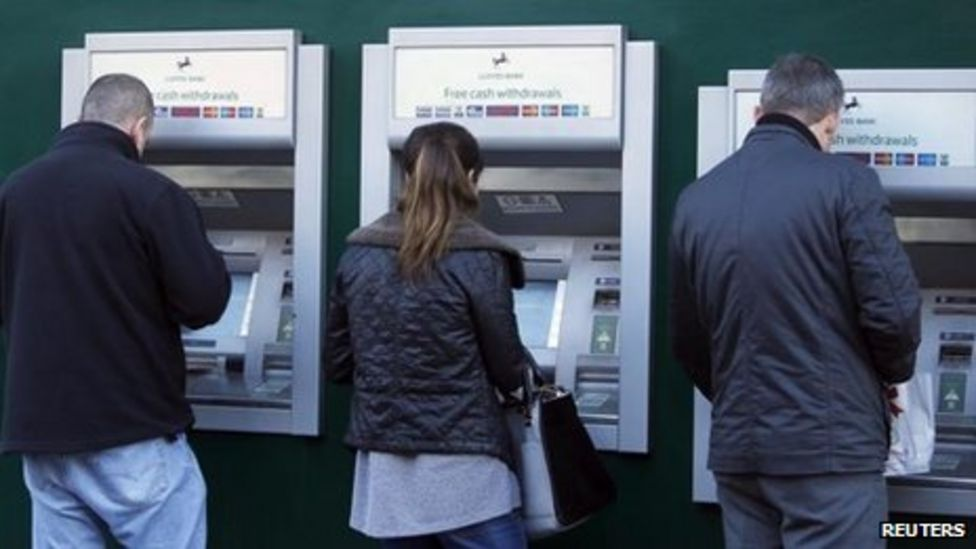 lloyds banking group says card problems sorted  bbc news
