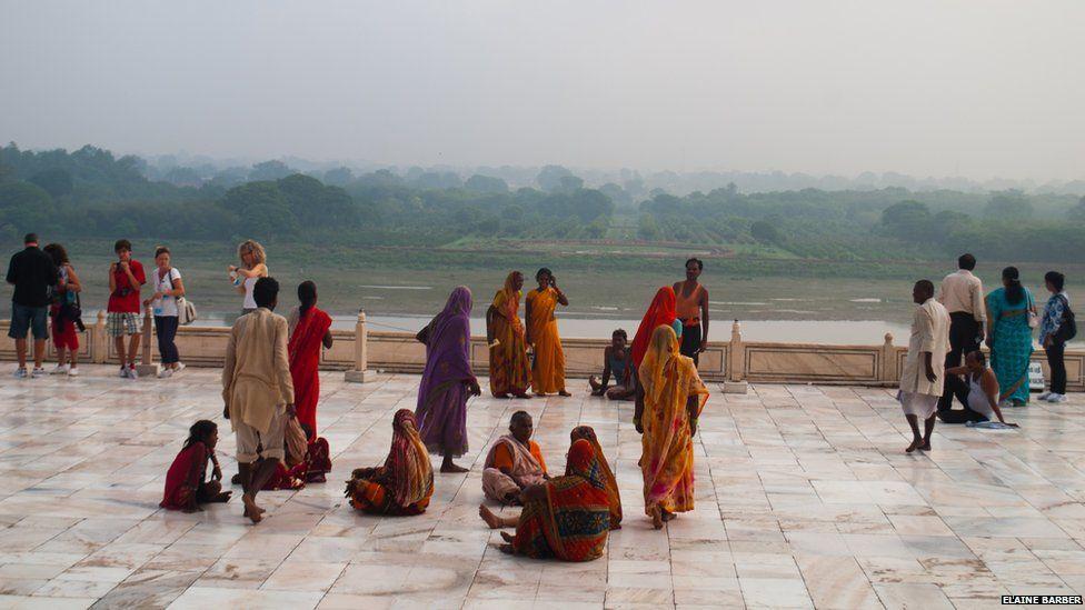 View from the Taj Mahal