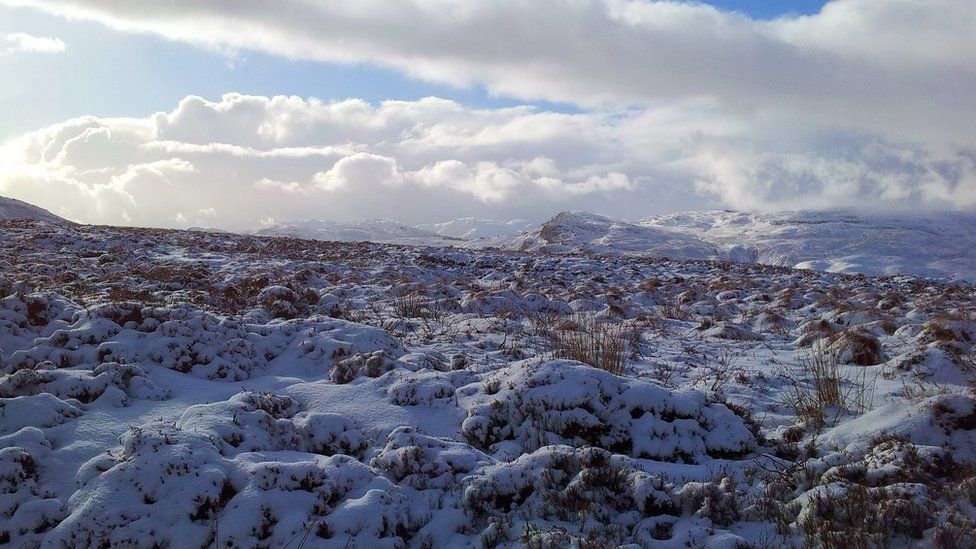 Snow on Ben Chonzie
