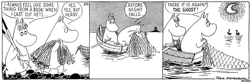 Comic strip from Moomin and the sea