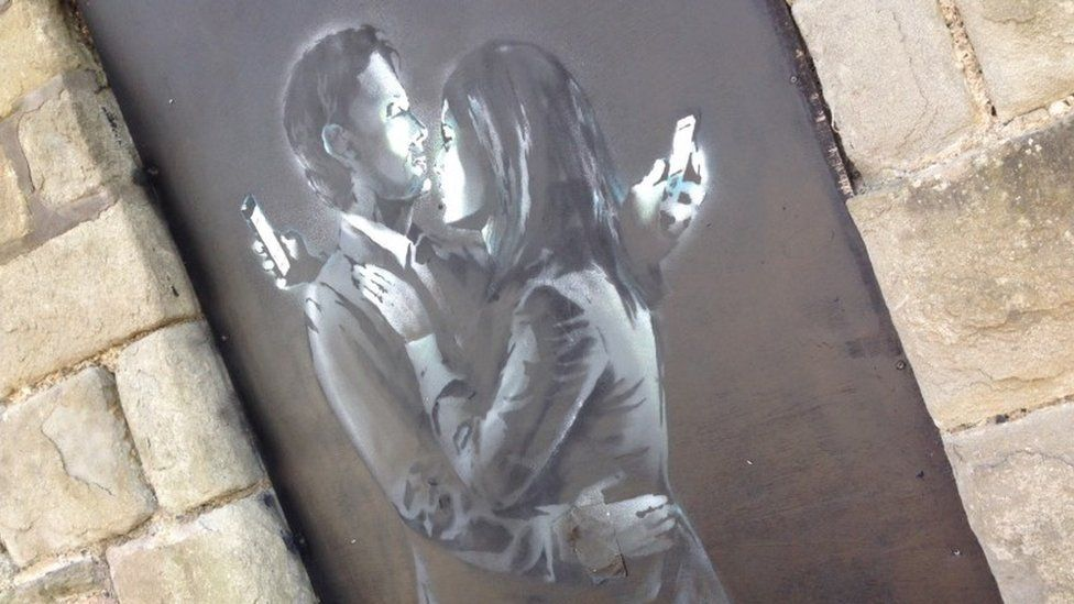 Street art by Banksy in Bristol