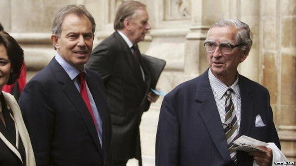 Tony Blair and Denis Healey