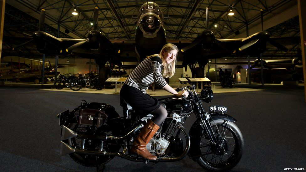 A Brough Superior 1931 SS100 in the RAF Museum