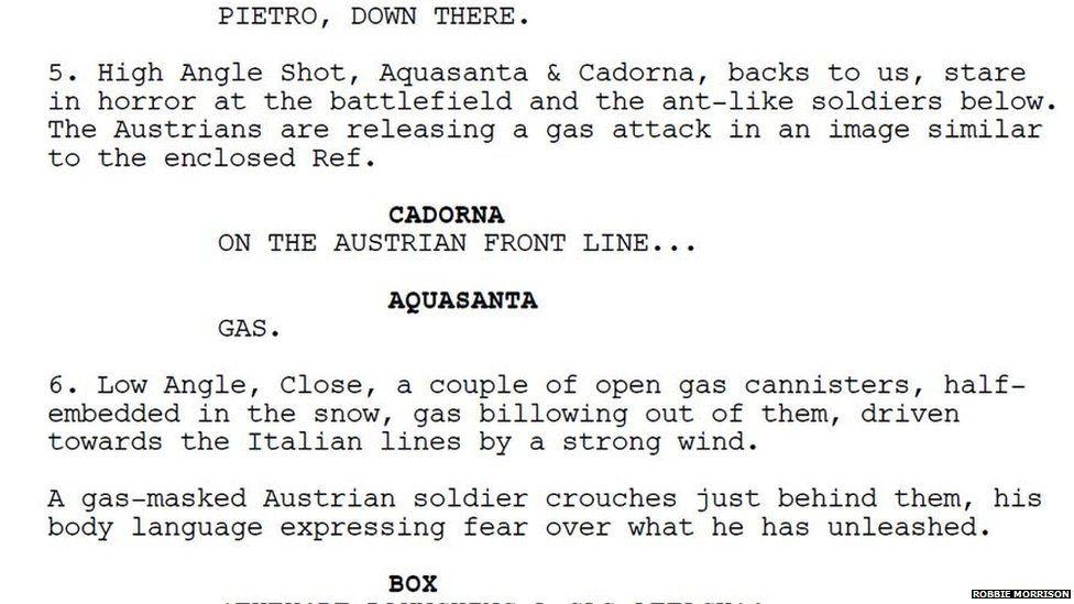White Death script excerpt