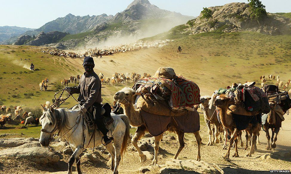 Nomads on the move in Xinjiang province
