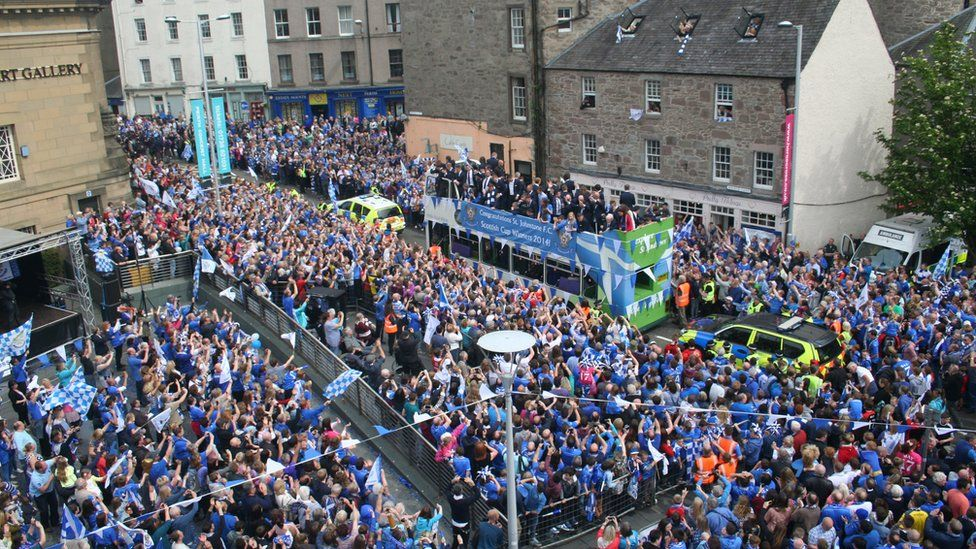 Scottish Cup parade in Perth