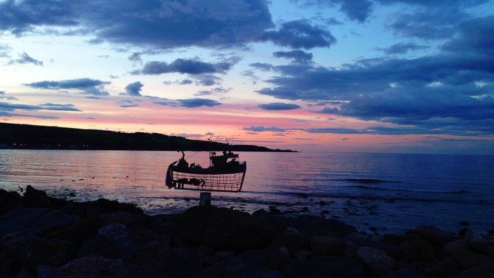 Sunset over Stonehaven